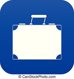 Travel bag icon digital blue