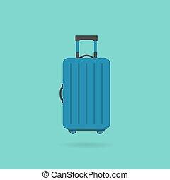Travel bag icon flat style
