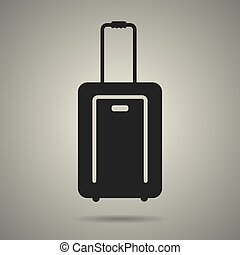 travel bag icon in black and white style