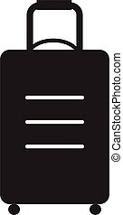 travel bag icon on white background. flat style design. travel bag sign.