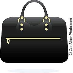 Travel bag icon on white background