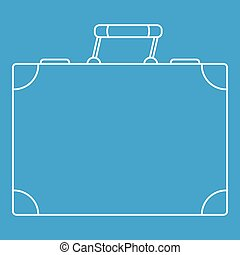 Travel bag icon, outline style
