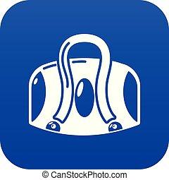 Travel bag icon, simple black style