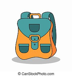 travel bag isolated icon