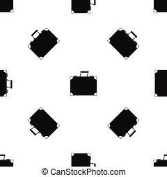 Travel bag pattern seamless black