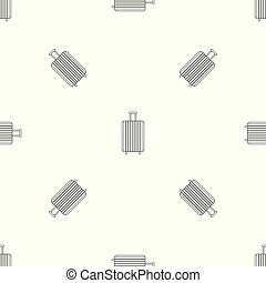 Travel bag pattern seamless vector