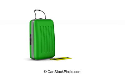Travel bags on white background. Isolated 3D render