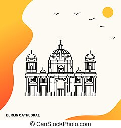Travel BERLIN CATHEDRAL Poster Template
