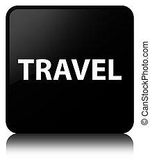 Travel black square button