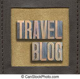 travel blog framed