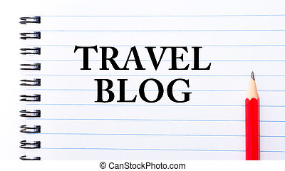 Travel Blog Text written on notebook page