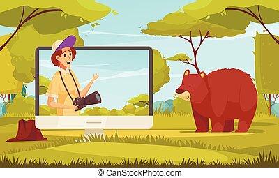 Travel Blogger Illustration