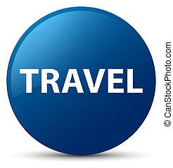 Travel blue round button