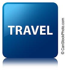 Travel blue square button