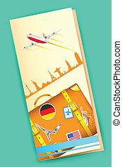 Travel Brochure - illustration of travel brochure with...