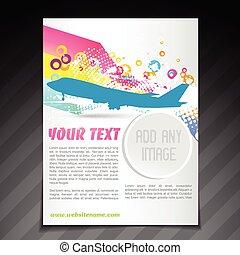 travel brochure flyer template design - vector travel...