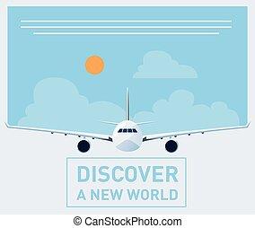 Travel brochure illustration - Tourism illustration template...