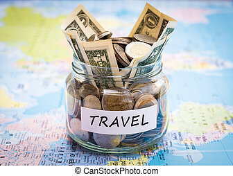 Travel budget concept
