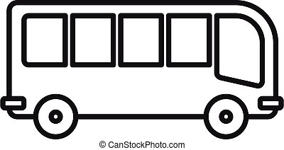 Travel bus icon, outline style