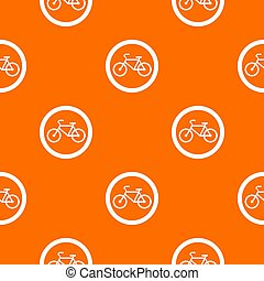 Travel by bicycle is prohibited traffic sign pattern seamless