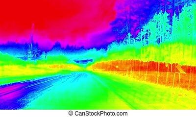 Travel by car 200 kilometers, time laps 200 %u043Am....