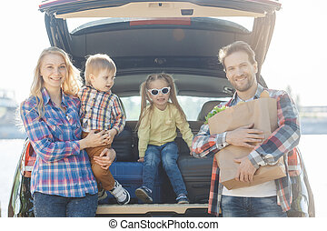 Travel by car family trip together vacation - Travel by car...