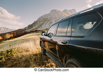 travel by car in mountains