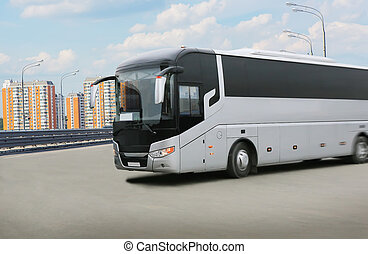 travel by coach in the city during