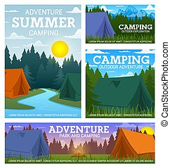 Travel camping camp and tents