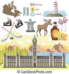 travel Canada traditional objects collection