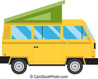 Travel car family vacation vector illustration