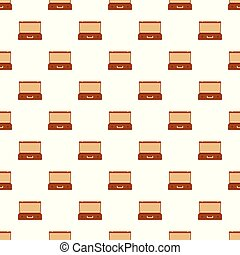 Travel case pattern seamless vector