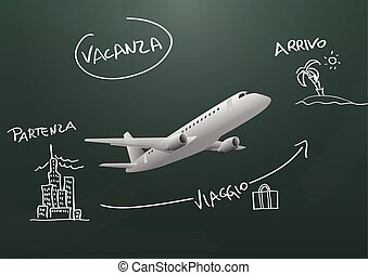 travel chalkboard ita