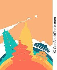 Travel China world landmark landscape