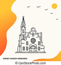 Travel CHRIST CHURCH WINDHOEK Poster Template