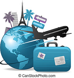 travel concept background - travel concept design