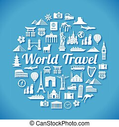 Travel Concept design - Vector design of Various Travel...