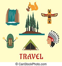 Travel concept for the Canadian or American wilderness