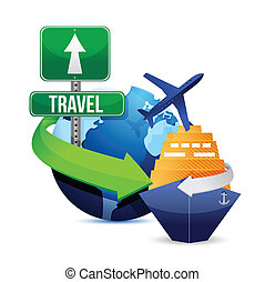 travel concept illustration design over a white background
