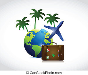 travel concept illustration design