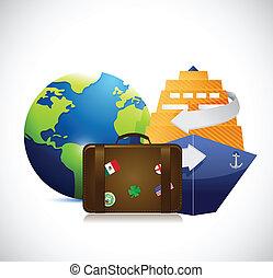 travel concept illustration design