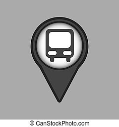 travel concept location map bus design graphic