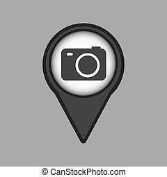 travel concept location map camera design graphic