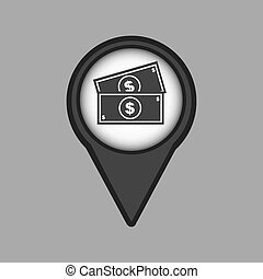 travel concept location map money bill design graphic