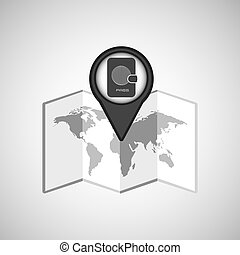 travel concept location map passport design graphic