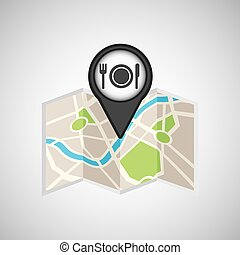 travel concept location map restaurant design graphic
