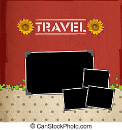 Travel concept scrapbook