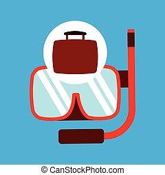 travel concept snorkeling equipment