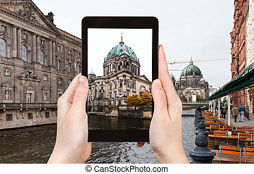 photo of Spree river and Berliner Dom - travel concept -...