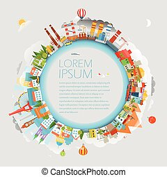 Travel concept vector illustration. Template for a text
